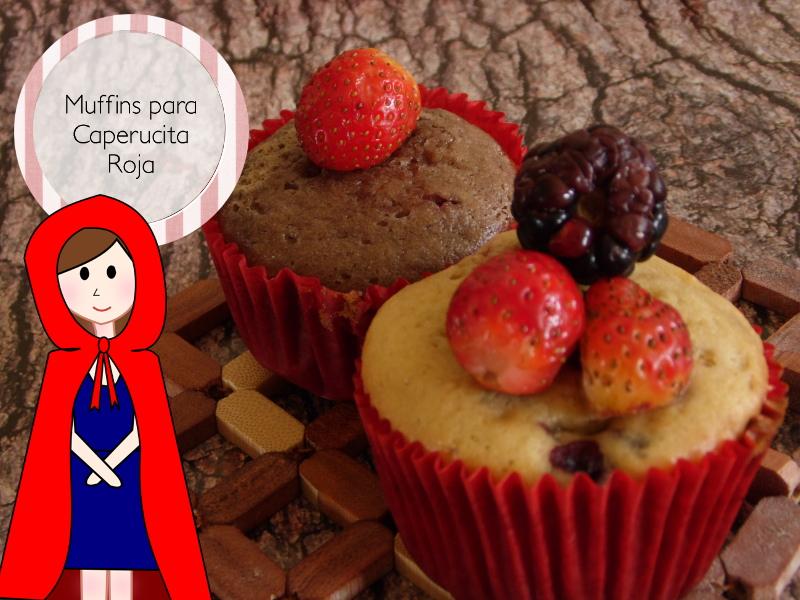 Muffins de fresa y de frutos del bosque