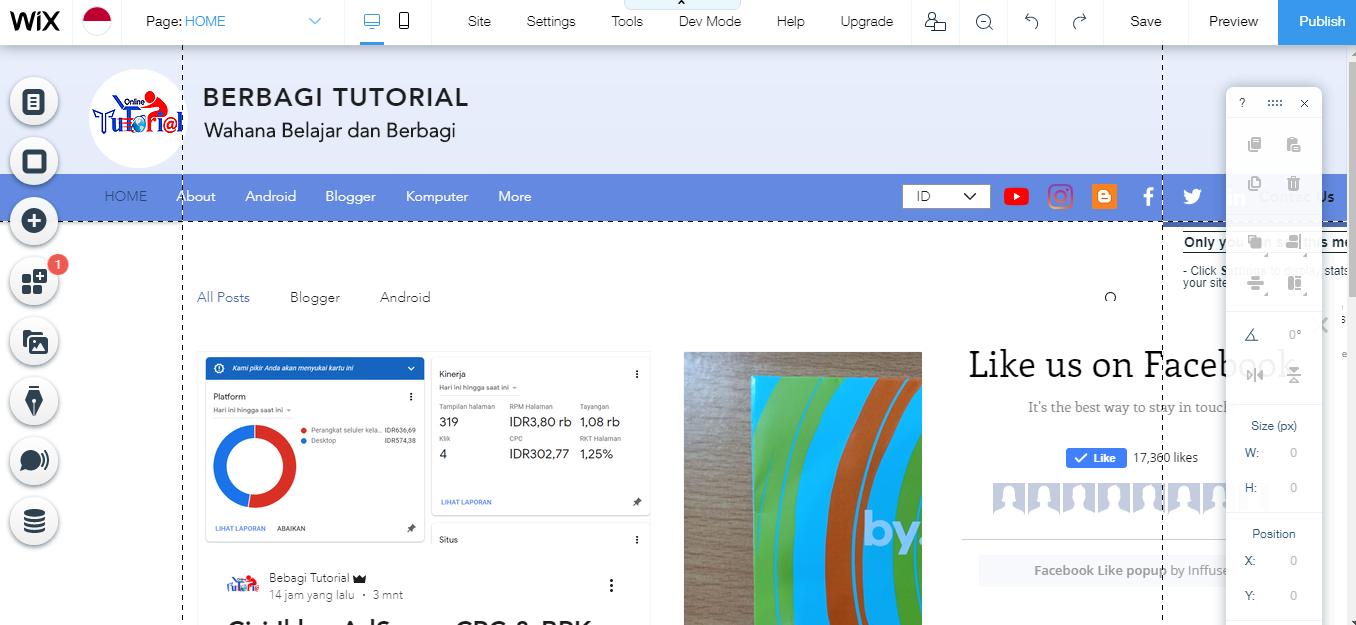 Dengan Wix Buat dan Desain Blog Mudah Semaumu