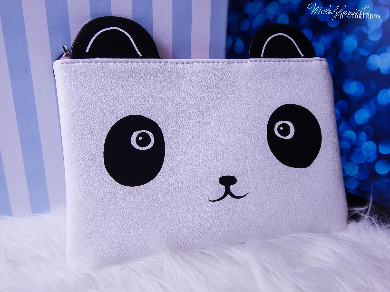 9 Oh! K Life koreańskie kosmetyki i gadżety słodkie dziewczęce dodatki maska do twarzy panda kosmetyczka w kształcie pandy lodowe płatki chłodzące okłady na oczy przeciw sińcom jak pozbyć się sińców pod oczami