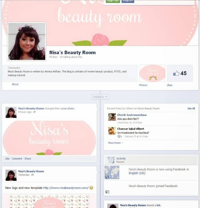 nisabeautyroom facebook fanpage