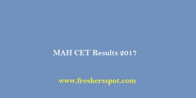 MAH CET Results 2017