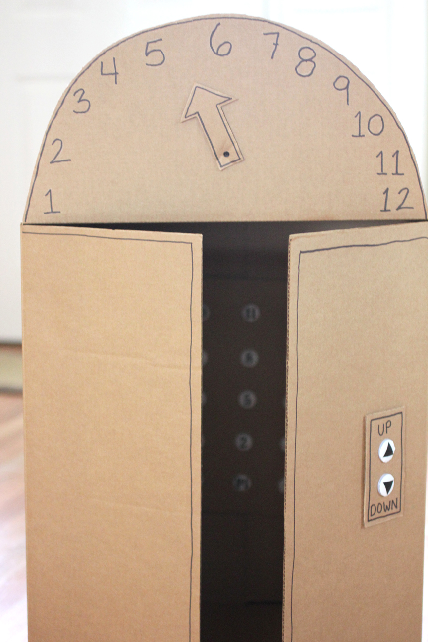 cardboard box elevator with push buttons repeat crafter me. Black Bedroom Furniture Sets. Home Design Ideas