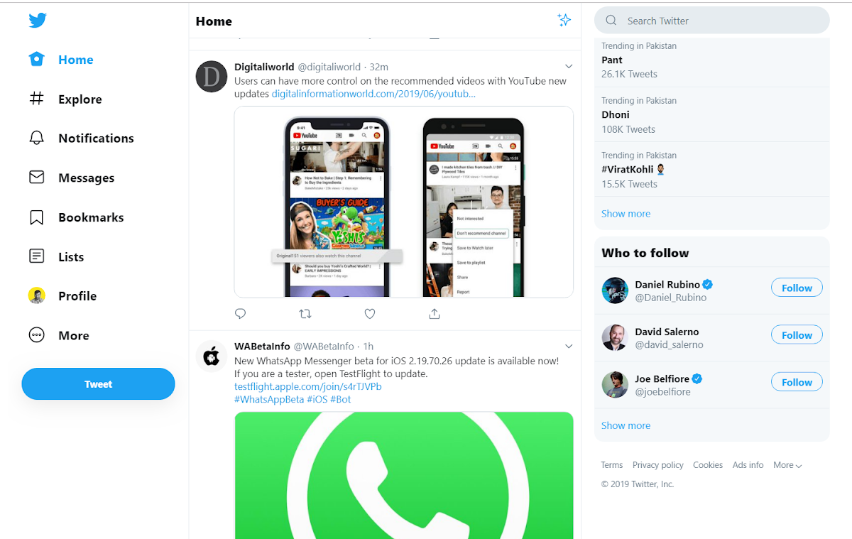Twitter introduces another desktop redesign with trends on the right, menu on the left