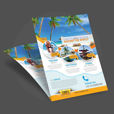 Travel agency, travel flyer, tour flyer, traveler, tourist flyer, holiday flyer,