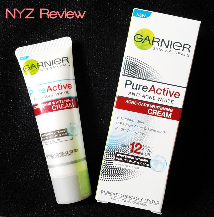 [REVIEW] Garnier Pure Active Acne Care Whitening Cream