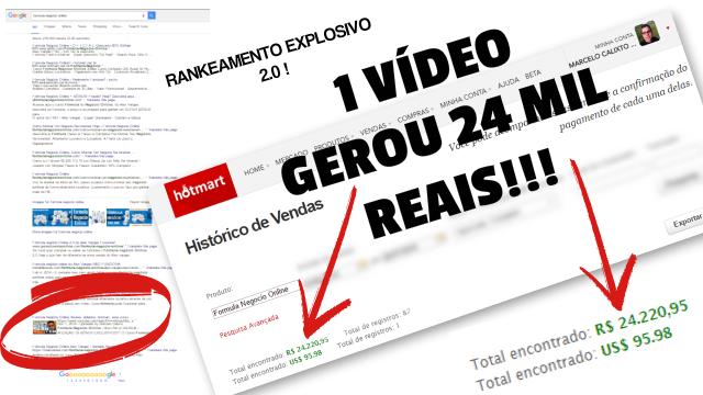 Ganhos Adquiridos Com o Método do Rankeamento Explosivo no Youtube