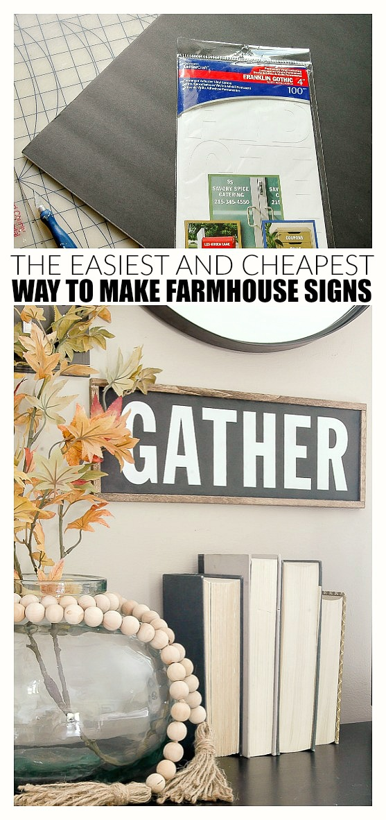 easy farmhouse sign, affordable farmhouse sign, fall decor