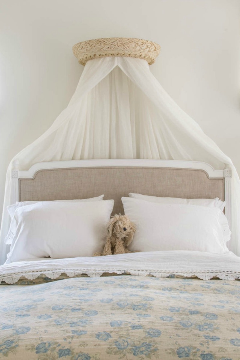 European farmhouse style interior design in a romantic French inspired bedroom - found on Hello Lovely Studio