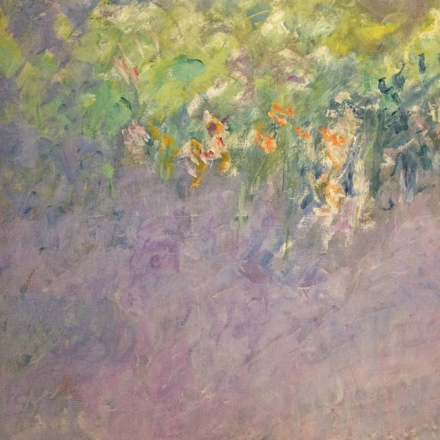 The Claude Monet exhibit at Vancouver Art Gallery - Pastel oil paints