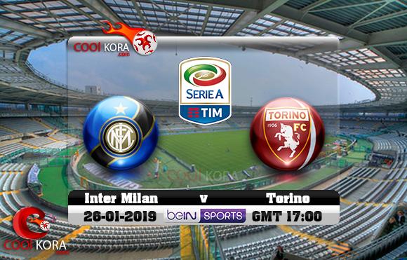 مشاهدة مباراة تورينو وإنتر ميلان اليوم 27-1-2019 في الدوري الإيطالي