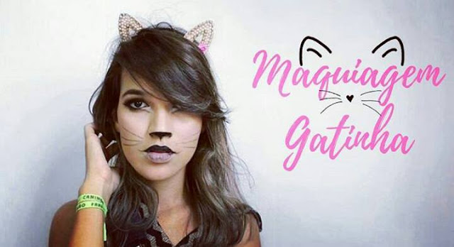 maquiagem tematica de gatinha para o carnaval