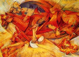 Jinete Rojo, de Carlo Carrá, 1913