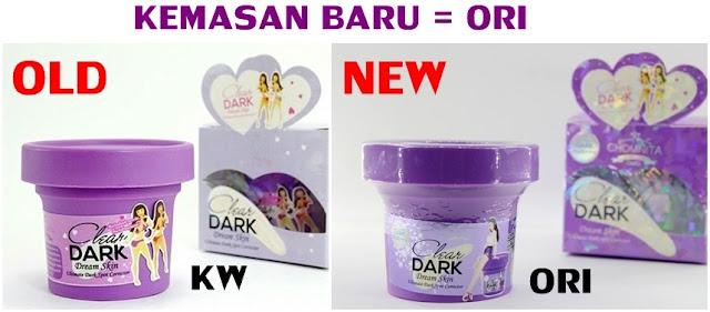 Original Clear Dark by Chomnita Menghilangkan Noda Hitam Lipatan atau Armpit Cream Segel ber Hologram