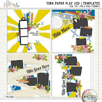 Template : Torn Paper Play 3 by Akizo Designs