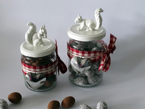 DIY Herbstglas mit Eichhörnchen