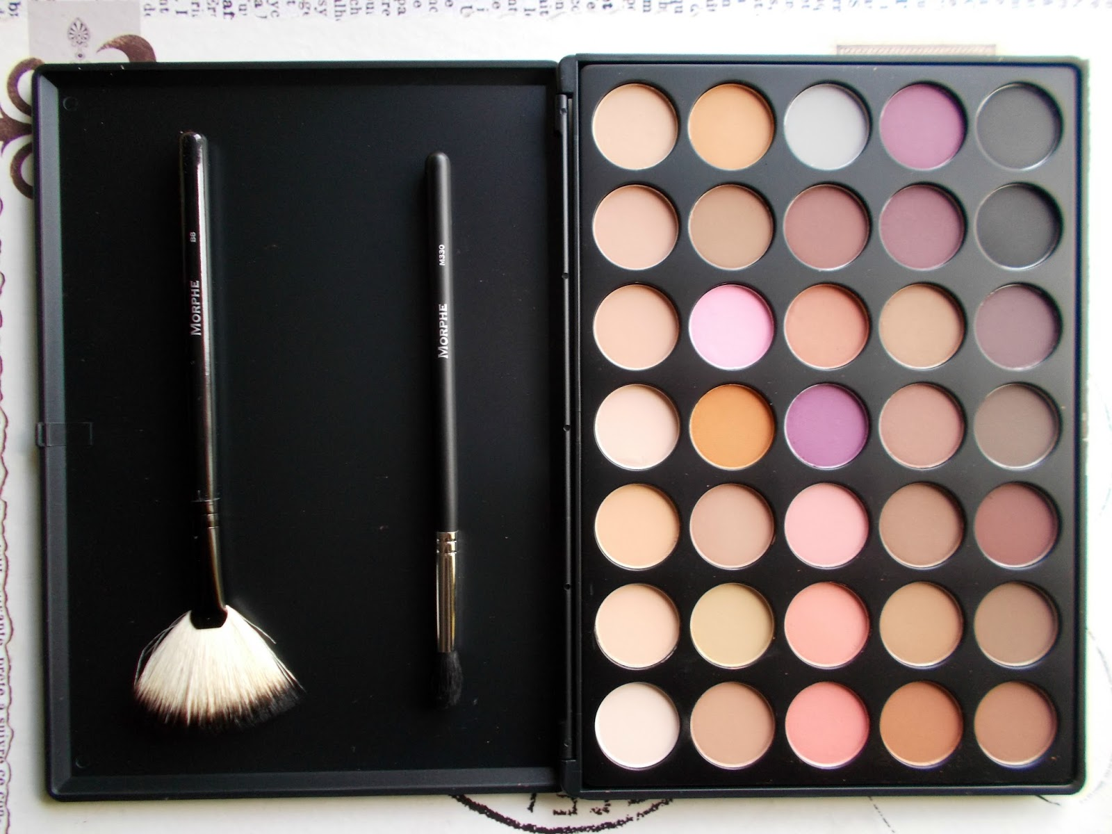 Morphe Brushes Beauty Bay review 35N colour matte palette