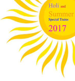 List of Holi Festival/Summer Special Trains 2017