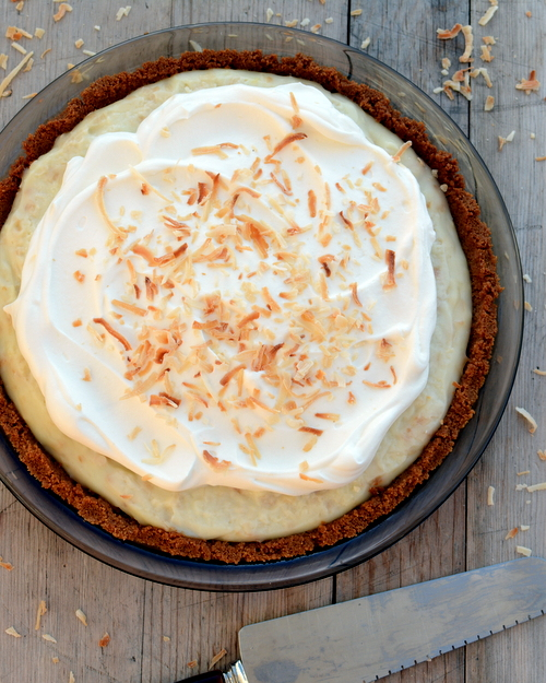 Coconut Cream Pie ♥ KitchenParade.com