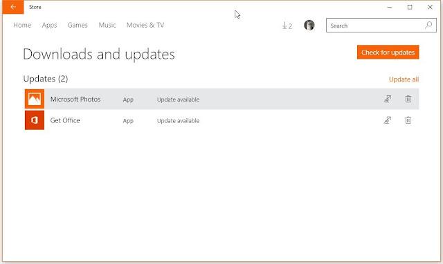 تحديث جديد في windows 10 لعارض الصور و حزمة اوفيس