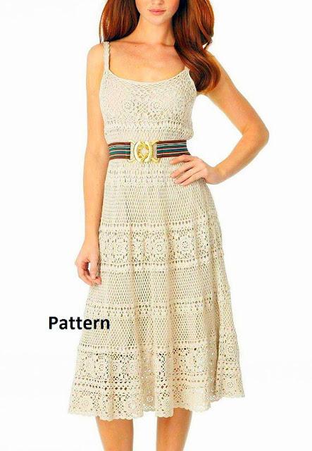 summer dress Crochet pattern