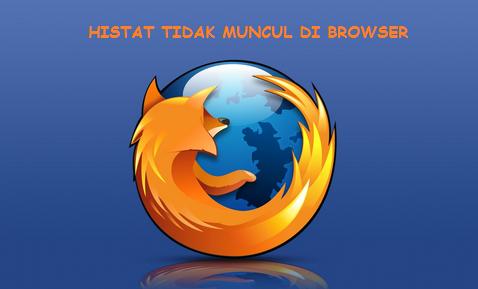 Histat Tidak Muncul di Browser