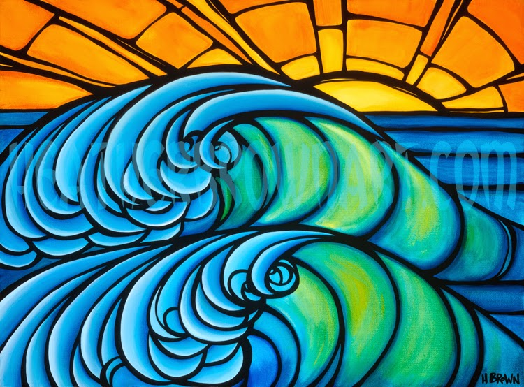 Original Surf Art Painting By Heather Brown Tropical
