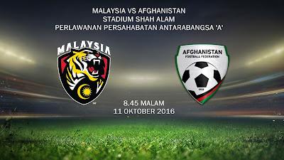 Malaysia Vs Afghanistan 11 Okt 2016