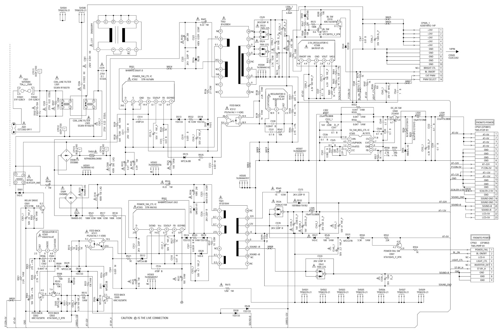 Toshiba 32w300p Service Mode Initialization Smps Circuit Diagram And Pwb Power Schematic