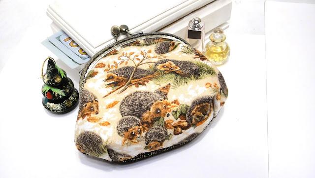 Детская сумочка с ежиками - новогодний подарок девочке. Доставка почтой России или курьерской службой