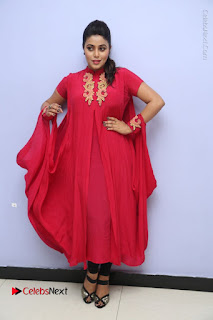 Actress Poorna Latest Stills in Red Dress at Rakshasi First Look Launch  0322.JPG