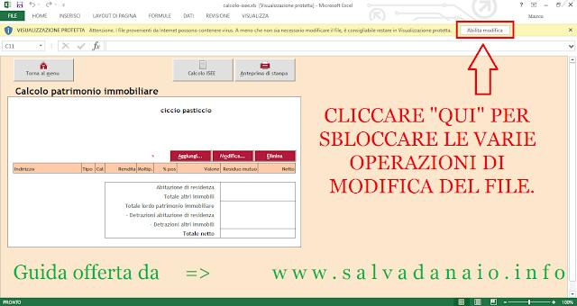 Simulatore isee Inps con file excel + calcolo e istruzioni online