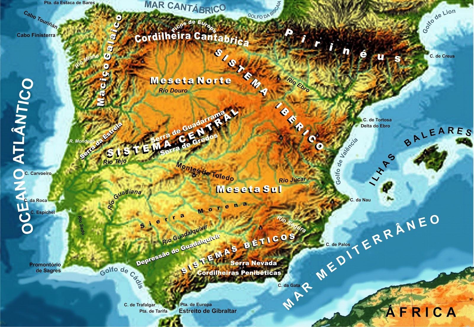 Atlas Historico Da Peninsula Iberica Caracteristicas Geograficas