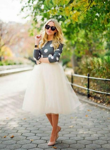 falda blanca de tul