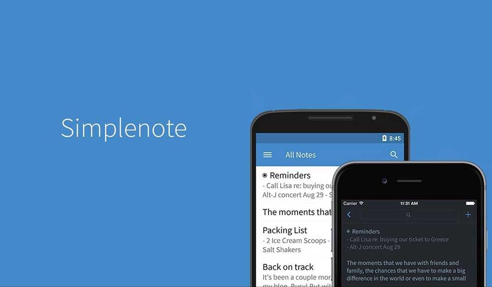 Simplenote: En iyi Not Alma Uygulaması Ücretsiz İndir
