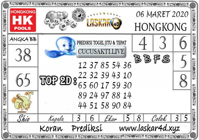 Prediksi Togel HONGKONG LASKAR4D 06 MARET 2020