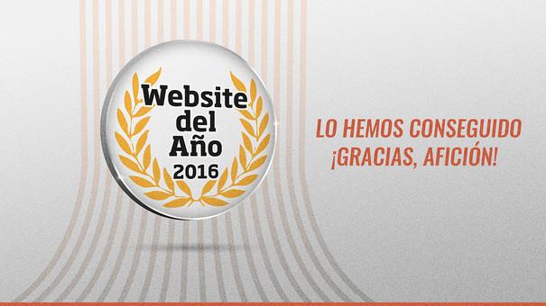 La web del Valencia, elegida la mejor del año y la más popular en deportes