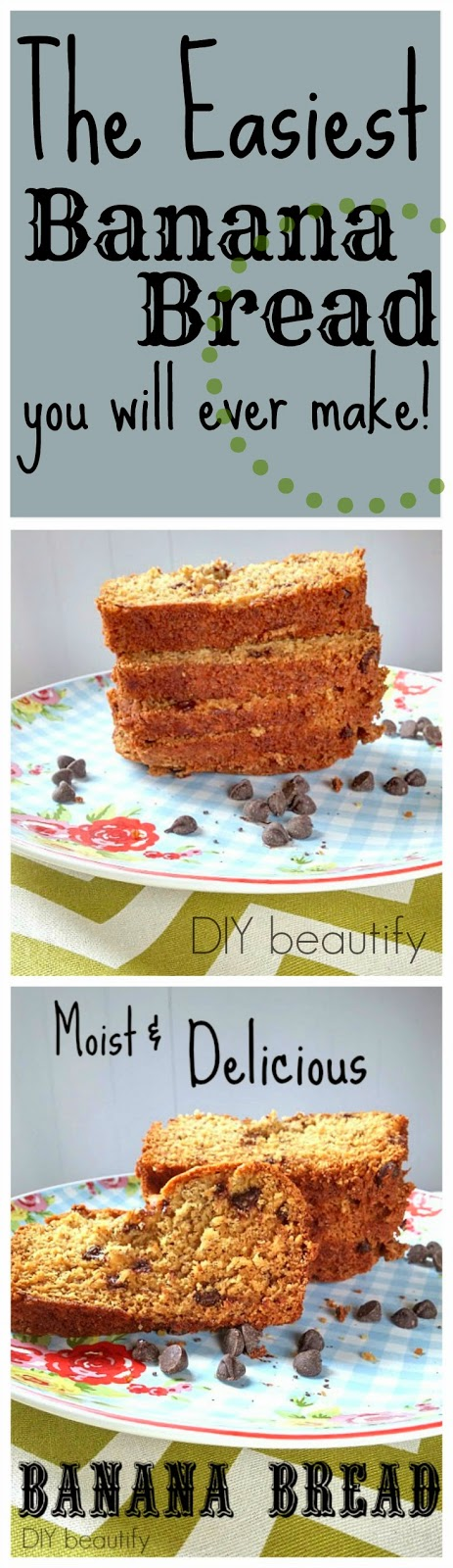 Banana Bread Recipe www.diybeautify.com