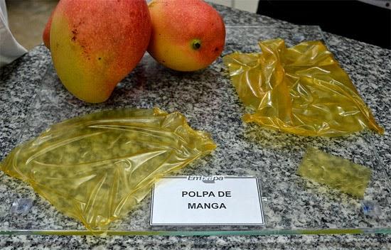 Plástico comestível da Embrapa