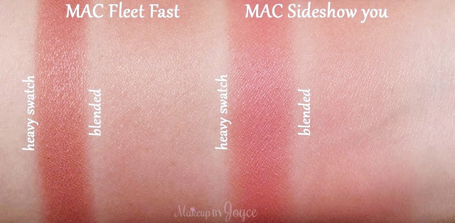 MAC Sideshow You Blush Swatches Fleet Fast