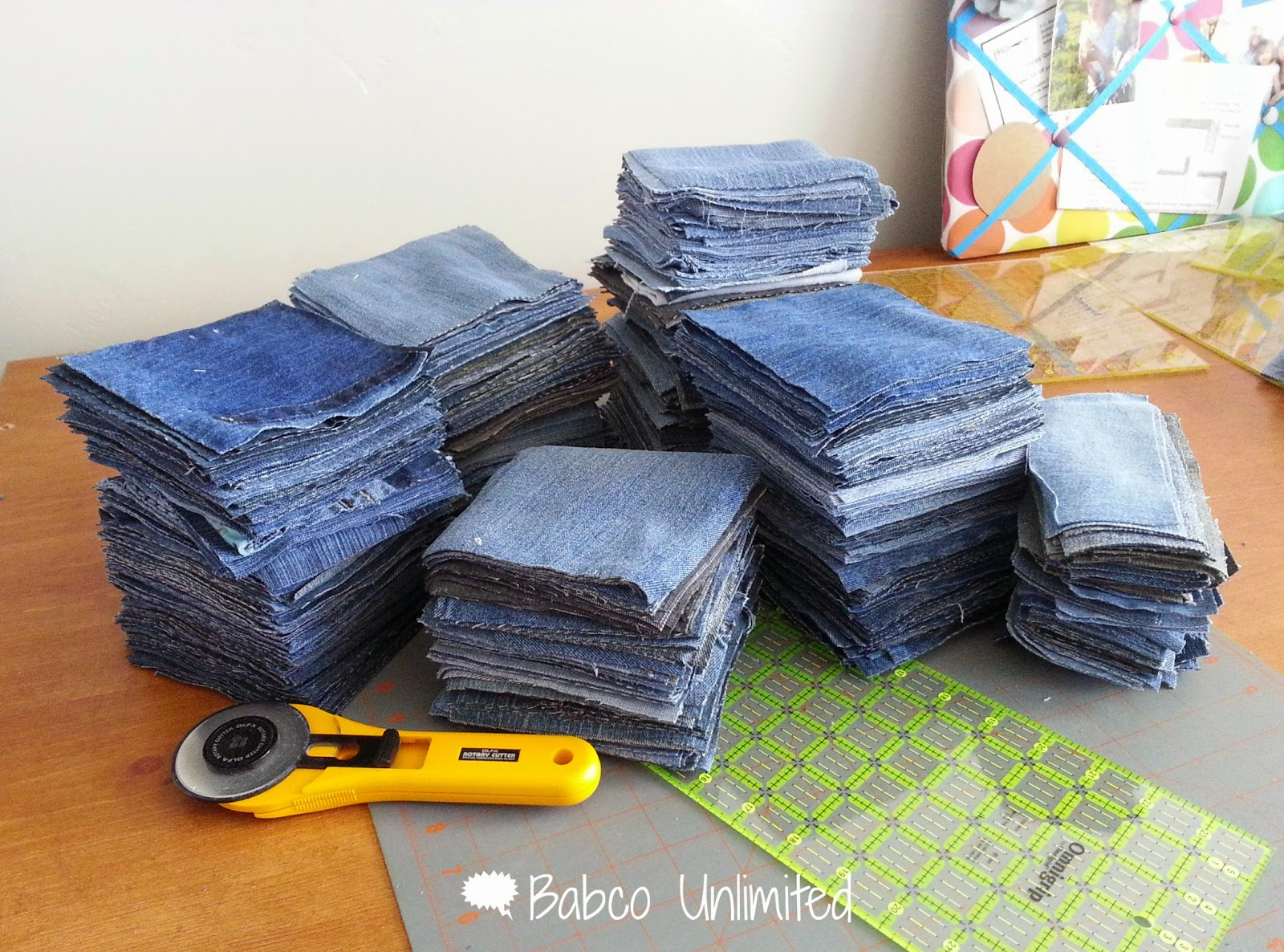 BabcoUnlimited.blogspot.com - Denim Quilt