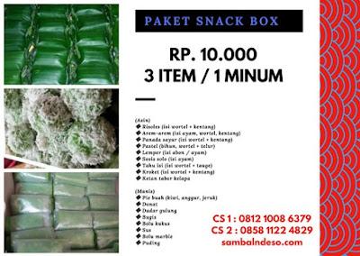 harga snack Box Daerah Ciputat