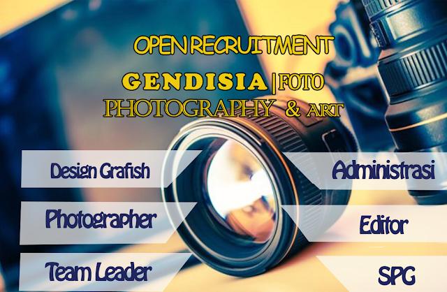 Lowongan Kerja Gendisia | Photography & Art Agustus 2017