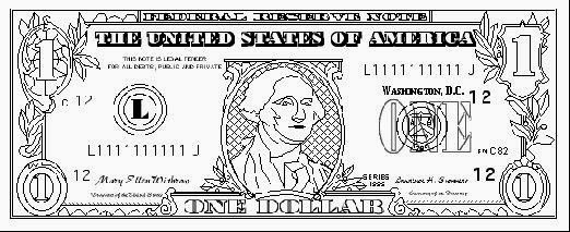 100 Dollar Bill Coloring Page - Free Coloring Pages