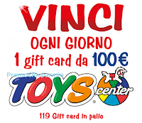 Logo Fruttolo 35 anni: vinci 119 Gift Card Toys Center da 100€
