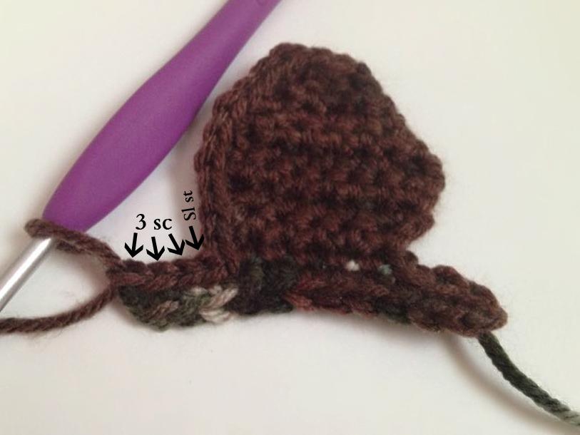 By Jenni Designs Free Crochet Pattern Tutorial Deer Head Applique
