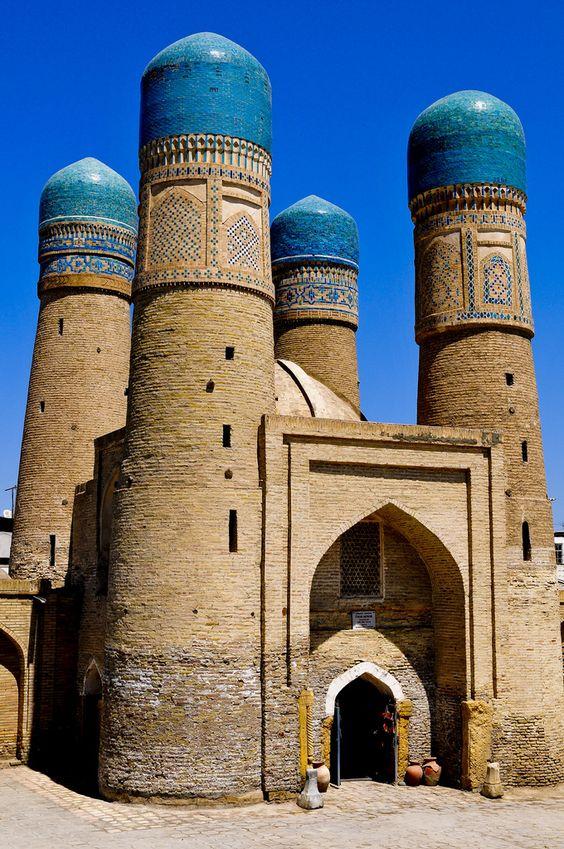 Gain Standard Deviation - Minarets . Samarkand Uzbekistan