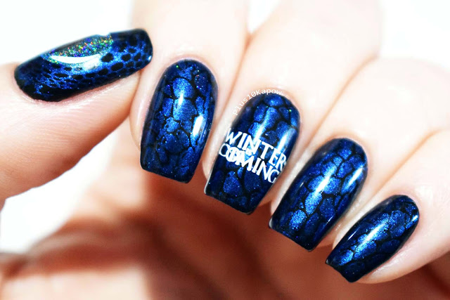 Game of Thrones Ice Dragon Nerdy Nails Clear jelly Stamper stamping plate