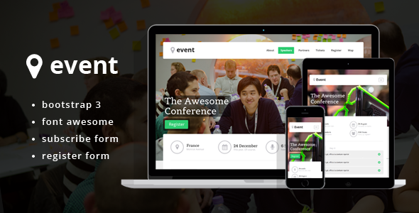 event landing page theme