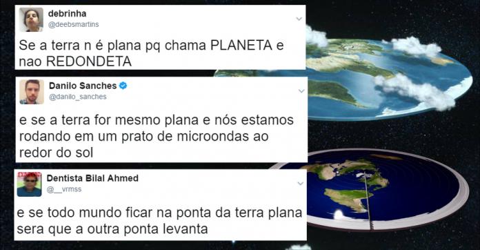 Globalistas zombando da Terra Plana no Twitter
