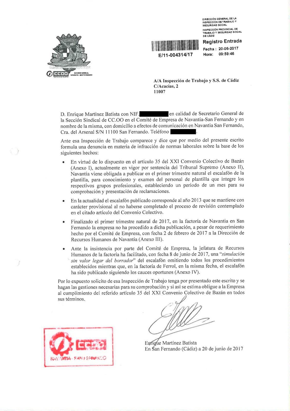 CCOO - NAVANTIA - SAN FERNANDO: CCOO denuncia a Navantia San ...